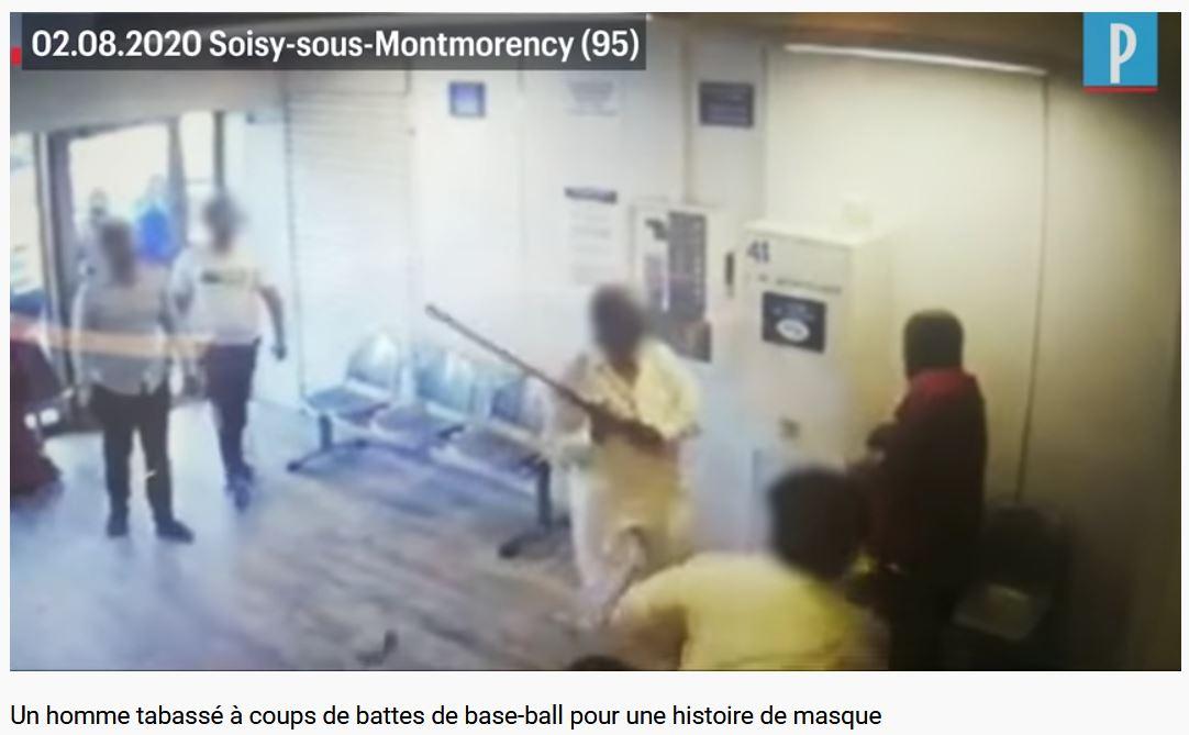 Un Noir tabassé à coups de battes de base-ball par des musulmans… il leur demandait de porter un masque !