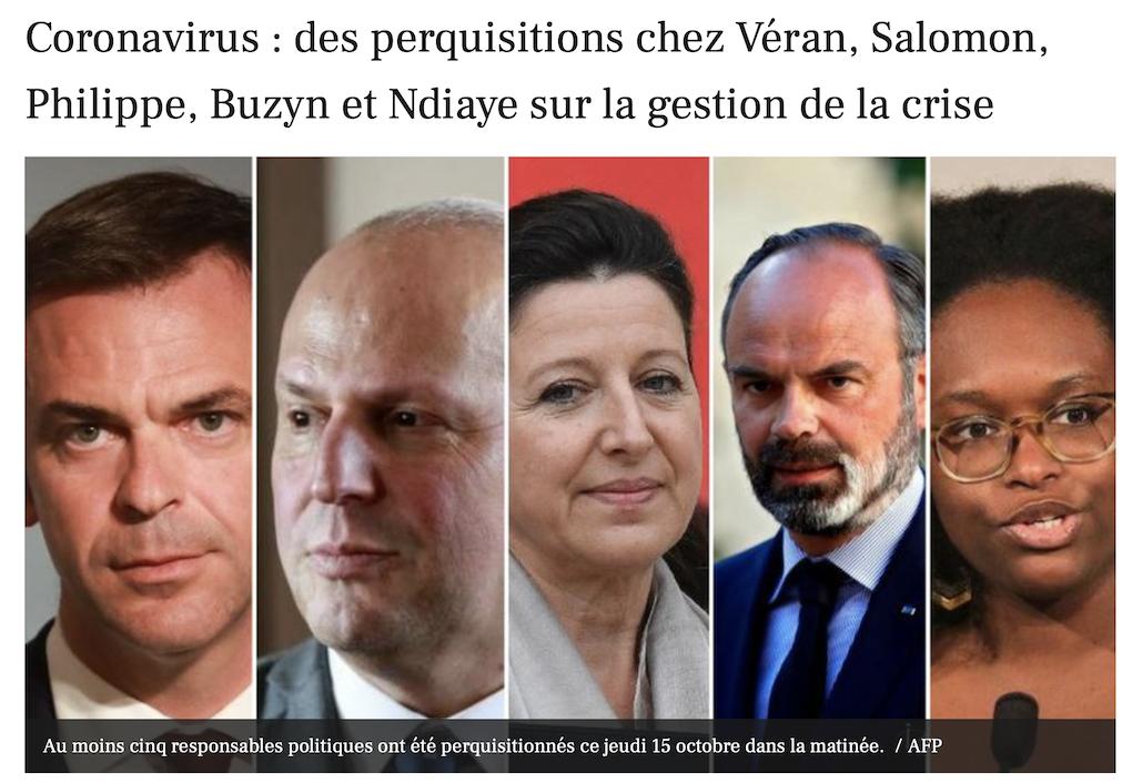 Perquisitions chez Véran, Buzyn, Salomon : ils trouveront rien…