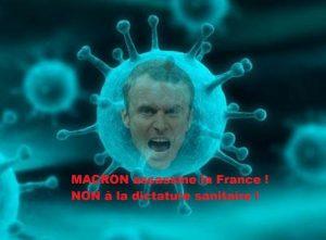 Ah ah ! Macron touché par le Covid ! Pourvu que…