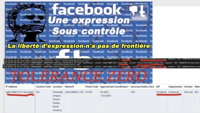 Facebook a financé pour 20 000 dollars une attaque contre Résistance républicaine !