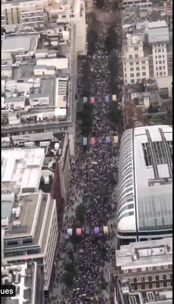 500.000 Anglais dans la rue pour dire non à la dictature sanitaire