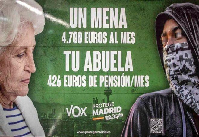 VOX consolidé dans sa politique contre les mineurs étrangers !