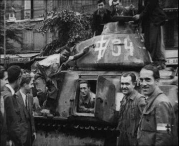 Georges Dukson sur le char SOMUA