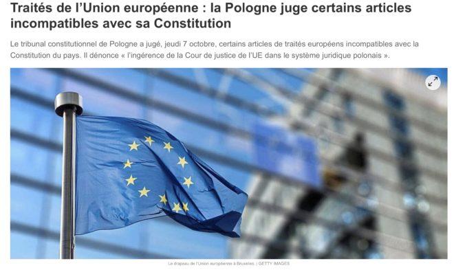 Communiqué : Zemmour déclare la guerre à la dictature de l'UE !